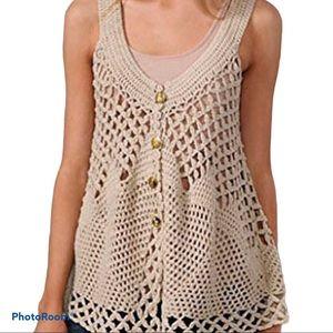 Free People open knit sweater vest